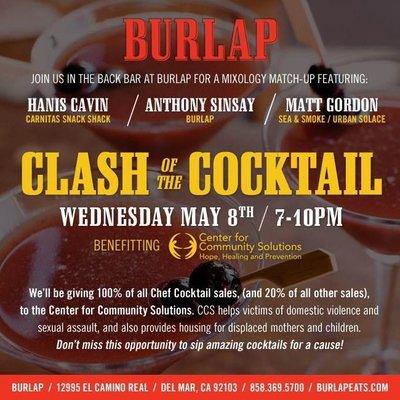 Burlap Clash of the Cocktail