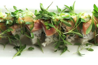 Hamachi roll with jalapeno