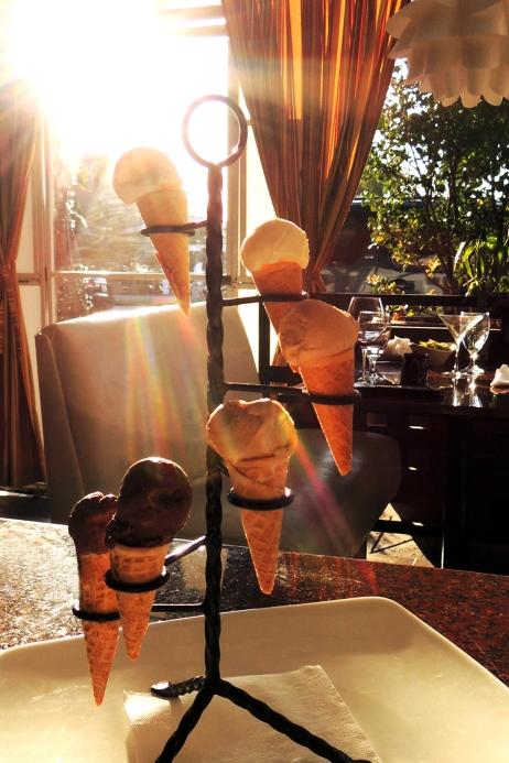 Secret snow cone dessert