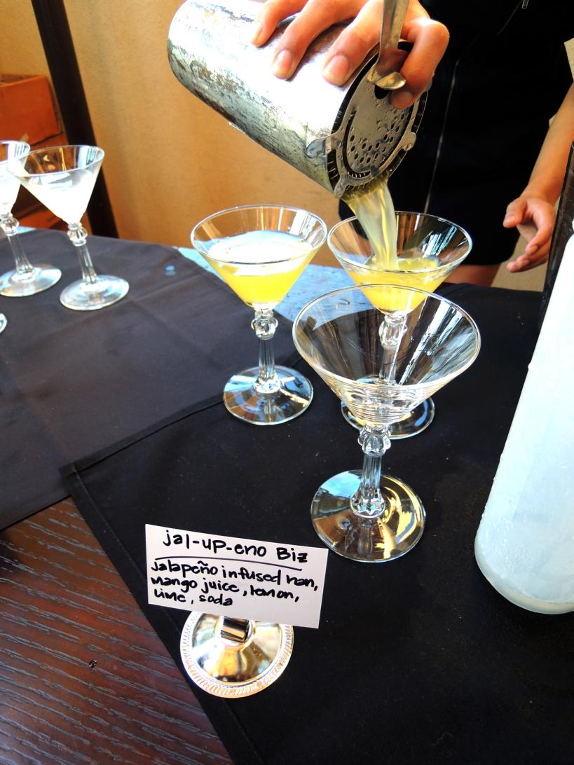 Jalapeno & mango cocktails at Harney Sushi