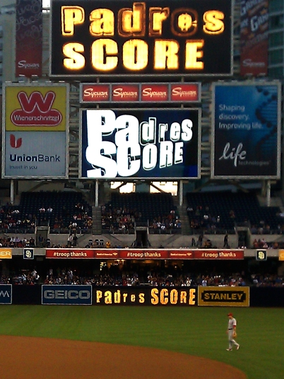 Padres score a home run