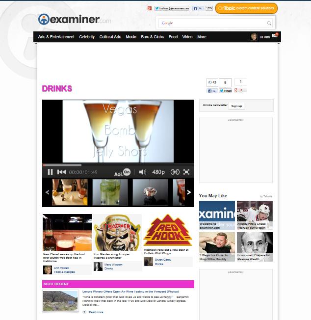 Examiner Drinks