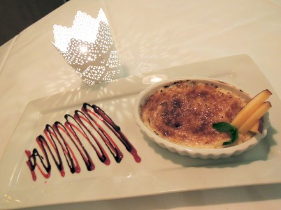 Mexican style creme brulee