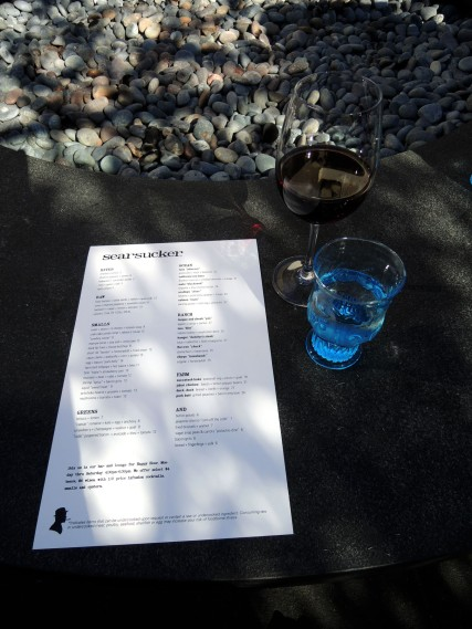 Searsucker Del Mar menu